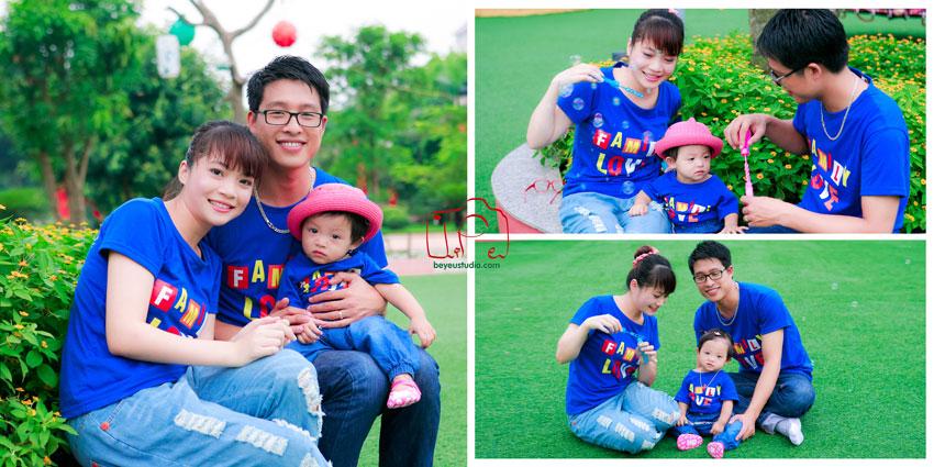 Chụp ảnh gia đình Hà Nội